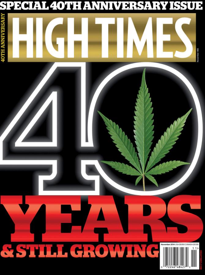 """Обложка """"High Times"""", посвящённая 40-летней годовщине выпуска"""