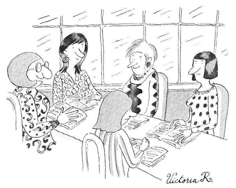 «Мне нравится клуб любителей книг. Думаю, вместе всегда веселее»