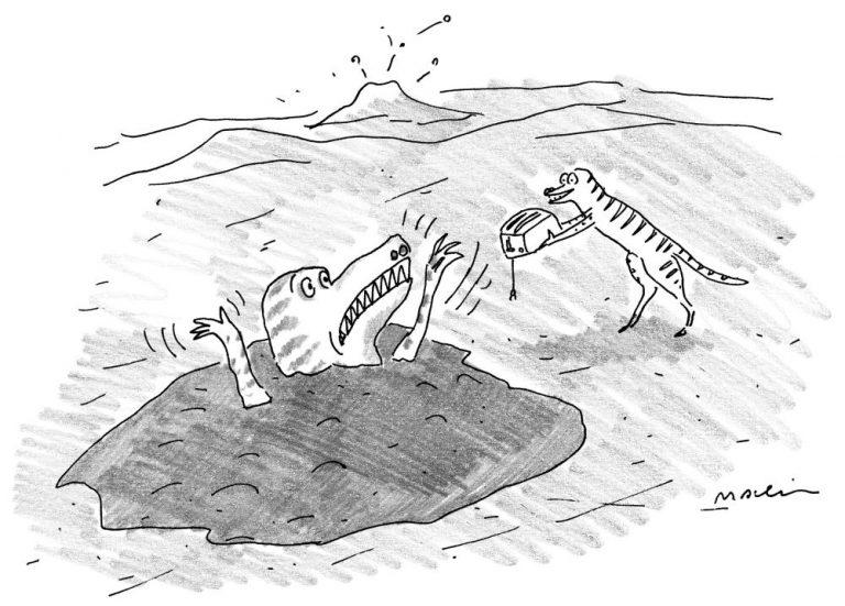 """""""На вот возьми тостер — он просто с ума сведет любого, кто найдет тебя через 65 миллионов лет."""""""