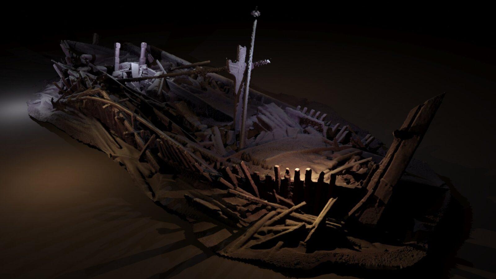 Фотограмметрическое изображение корабля эпохи Оттоманской империи, который скорее всего затонул в промежуток между 17 и 19 веками. Исследователи называют его Цветком Чёрного моря, так как его палуба имеет сложный резной орнамент, в том числе две больших вершины, которые образуют лепестки.